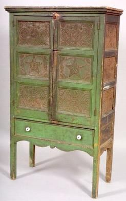 Antique Painted Pie Safe For Sale | Pie Safe; Green Paint, 2 Doors, Punched  Tin Panels, Square Feet. | Kitchens | Pinterest | Square Feet, Pies And  Squares