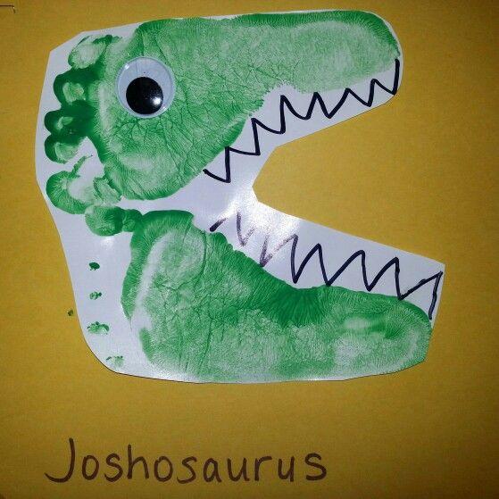 Superior Dinosaur Craft Ideas For Kids Part - 10: Dinosaur Footprint Idea - For Living Room Frame?