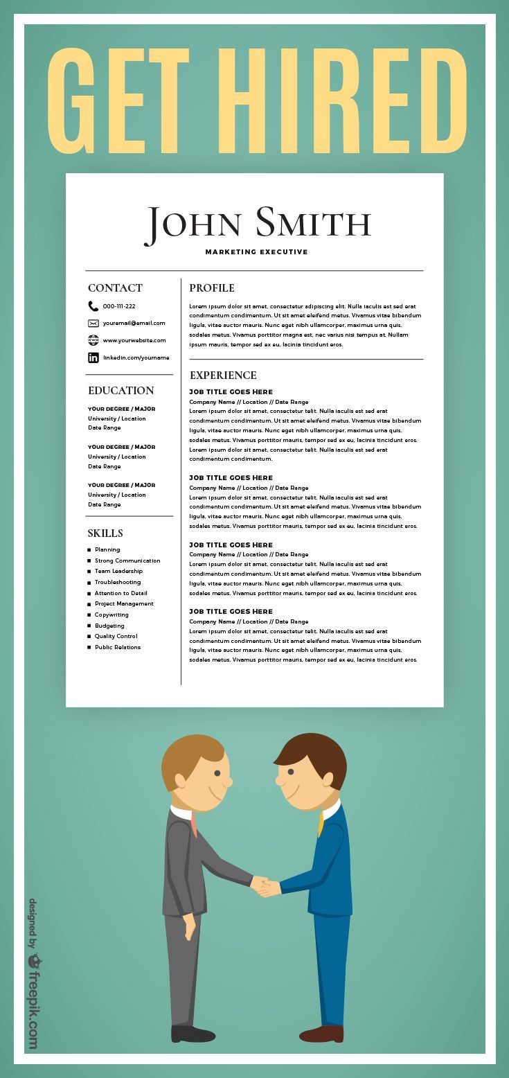 Microsoft Word Resume Templates For Mac Get Hired  Resume Template  Cv Template With Cover Letter  Ms