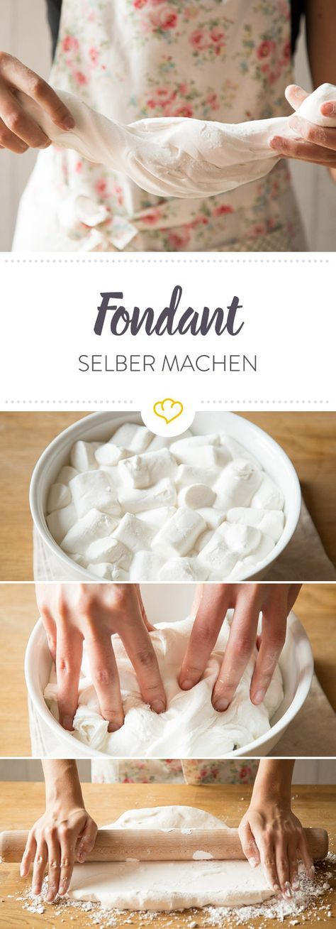 fondant selber machen das rezept mit geling garantie rezept eat pinterest fondant. Black Bedroom Furniture Sets. Home Design Ideas