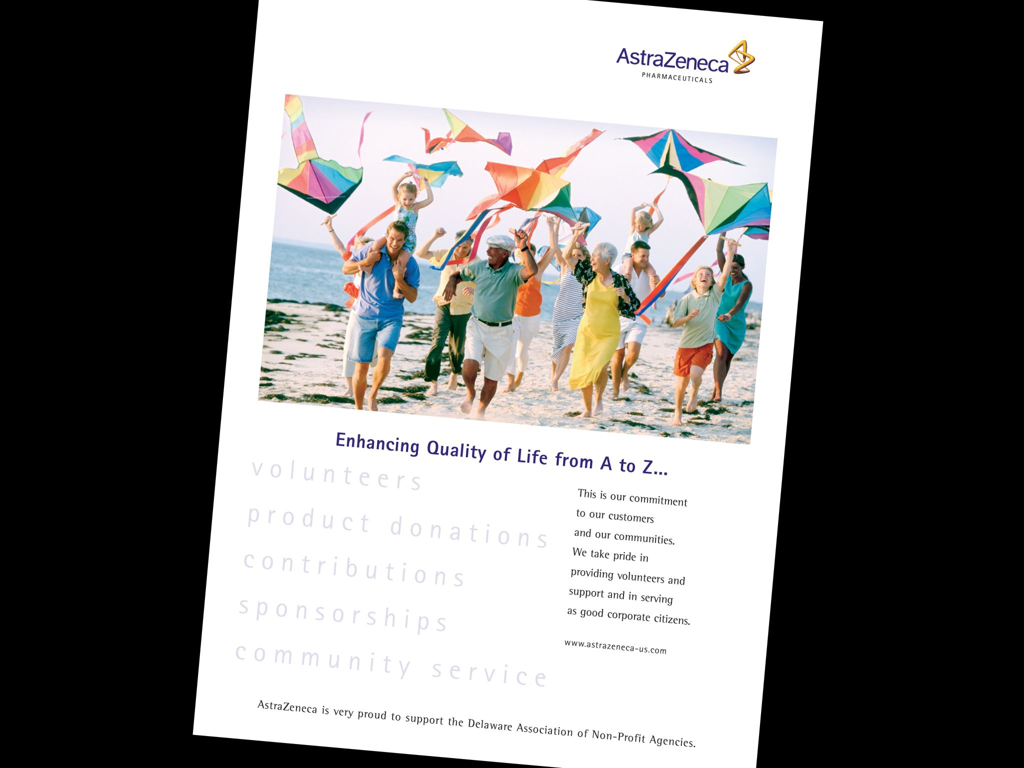 Astrazeneca Enhancing The Quality Of Life Ad Life Enhancement Supportive