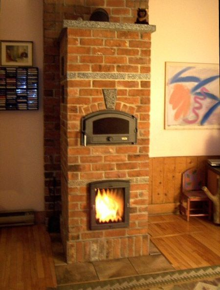 Masonry Stove I Like The Ones With The Top Oven Wood Heater