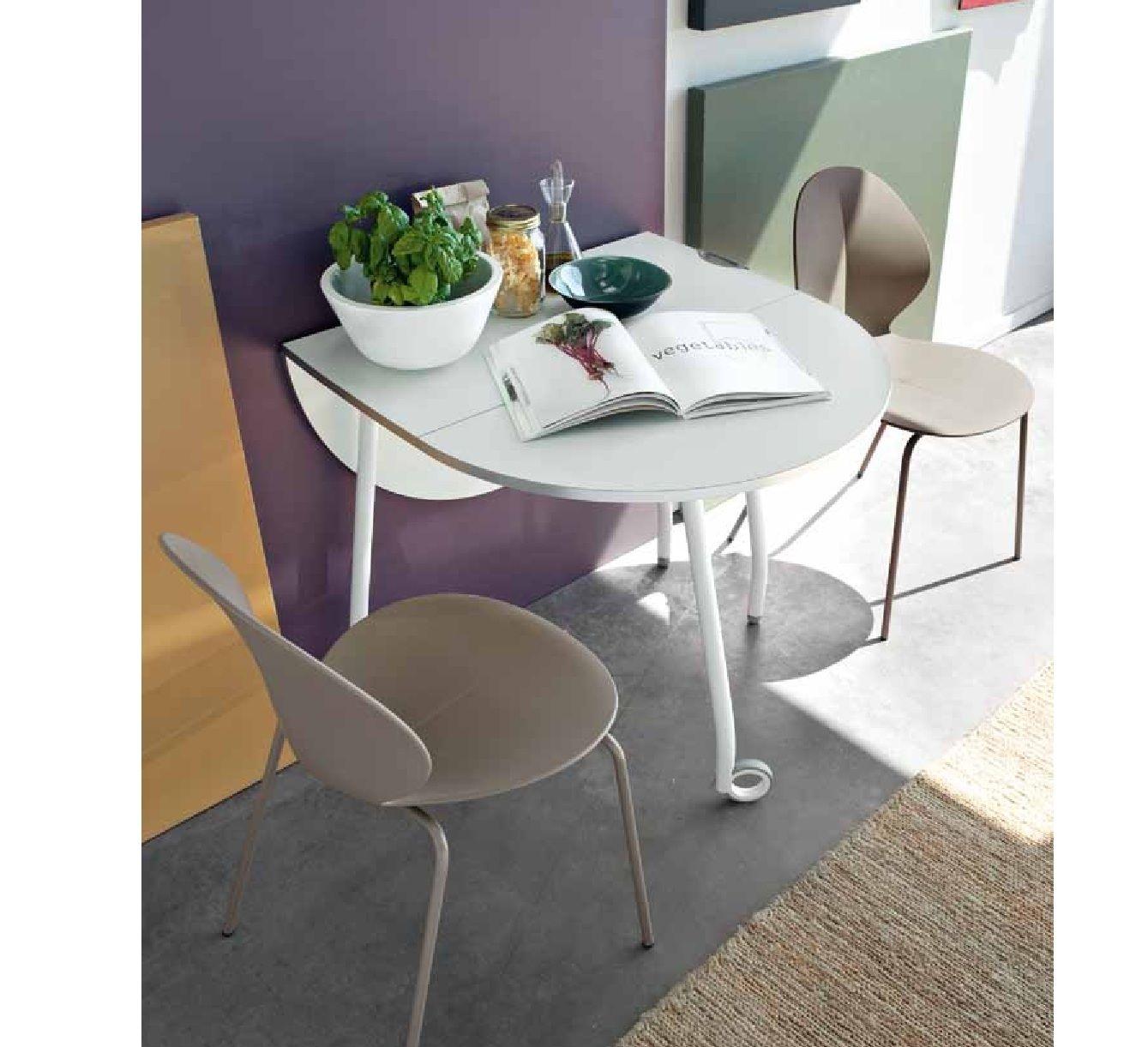 Mesa de cocina Blitz de Calligaris es una mesa ahorra-espacio que es ...