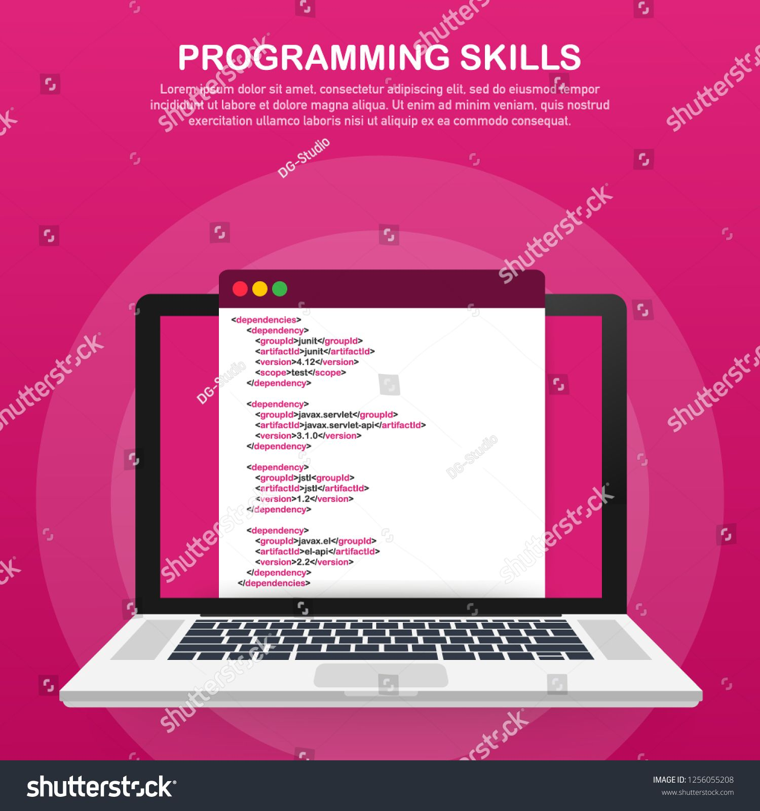 Modern Flat Design Isometric Concept Of Programming Skills For Website And Mobile Website Landing Page Template Vector St Isometric Page Template Modern Flat