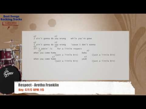 Respect Aretha Franklin Drums Backing Track With Chords And Lyrics