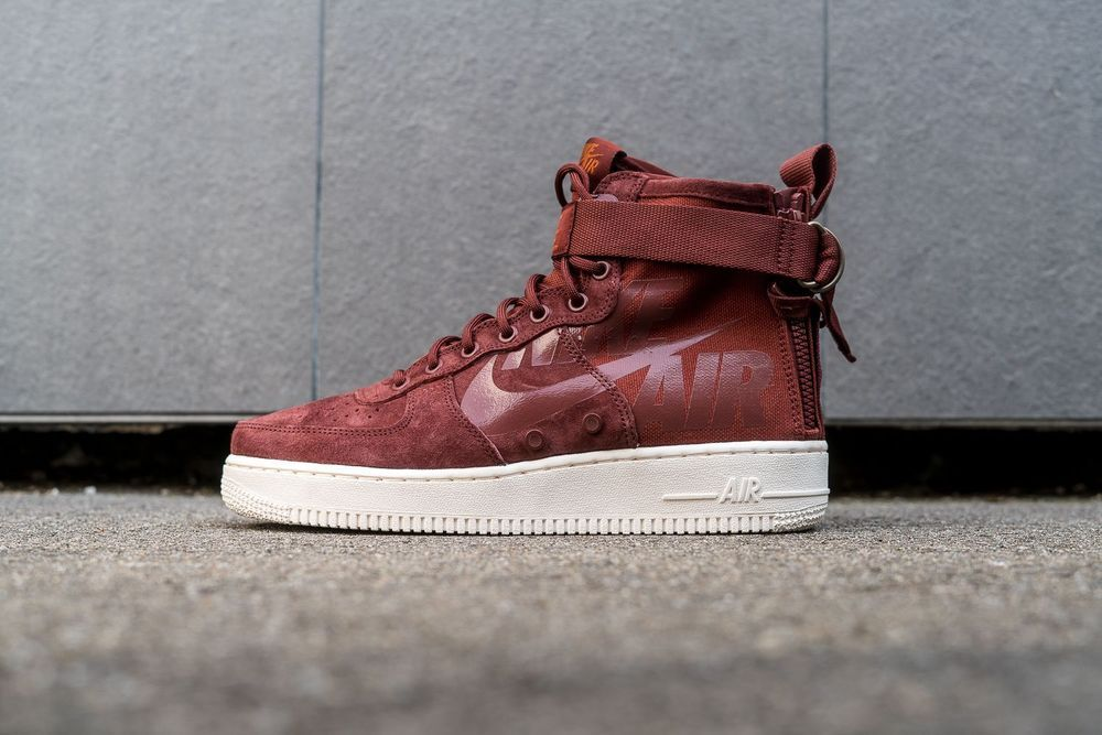 the latest 8ffa5 a2078 Nike SF Air Force 1 Mid - Pueblo Brown, Dark Russet & Sail ...