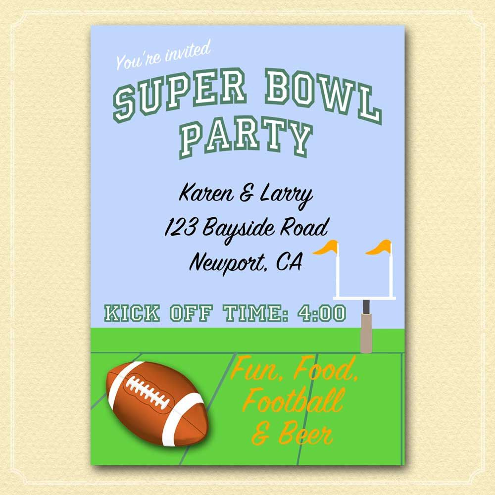 Football party invitation super bowl party custom made diy football party invitation super bowl party custom made diy printable football filmwisefo