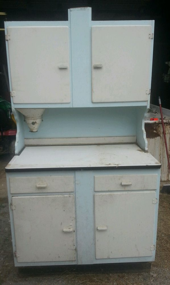 Nice Antique Hoosier Cabinet Flour Mill Bin Vintage Kitchen Pantry