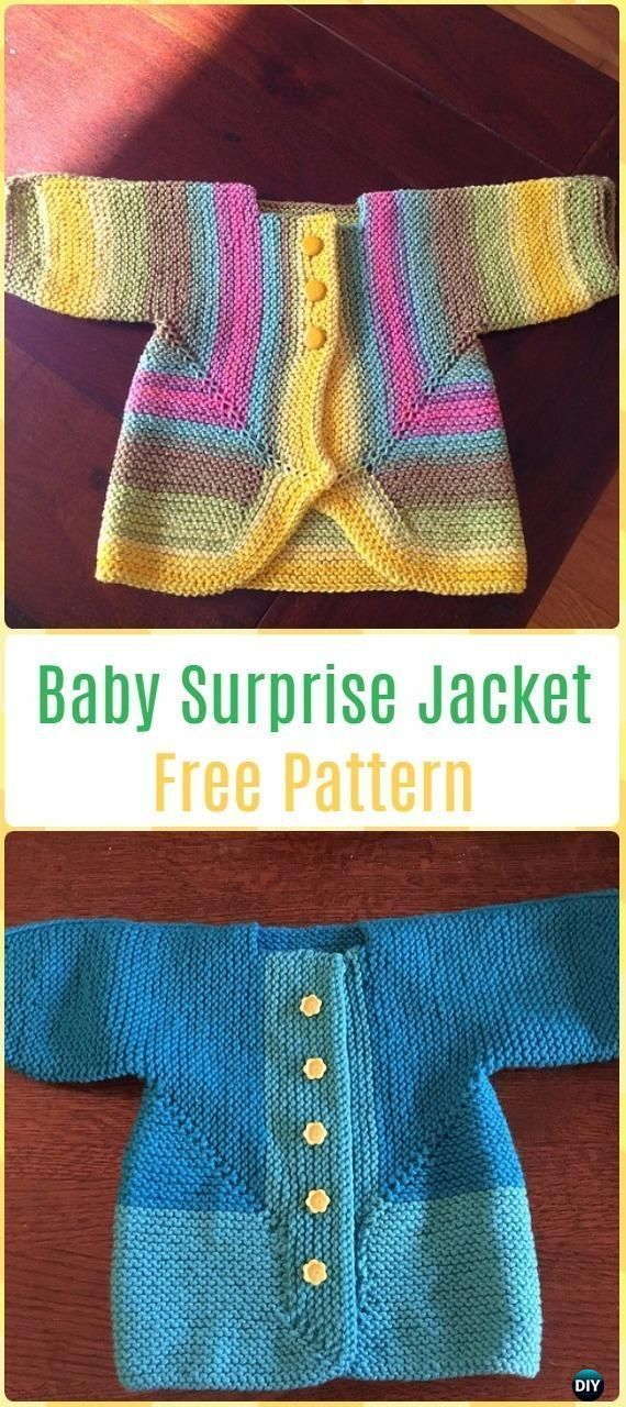 1c930a21a Knit Baby Surprise Jacket Free Pattern - Knit Baby Sweater Outwear ...