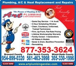 Boca Raton Sewer Repair Pros at Art Home Services Announce Winter Discount on Sewer Cleaning for $99