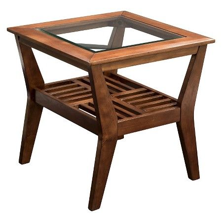 Furniture Of America Sun Pine Couve Gl Top Coffee Table Dark Cherry