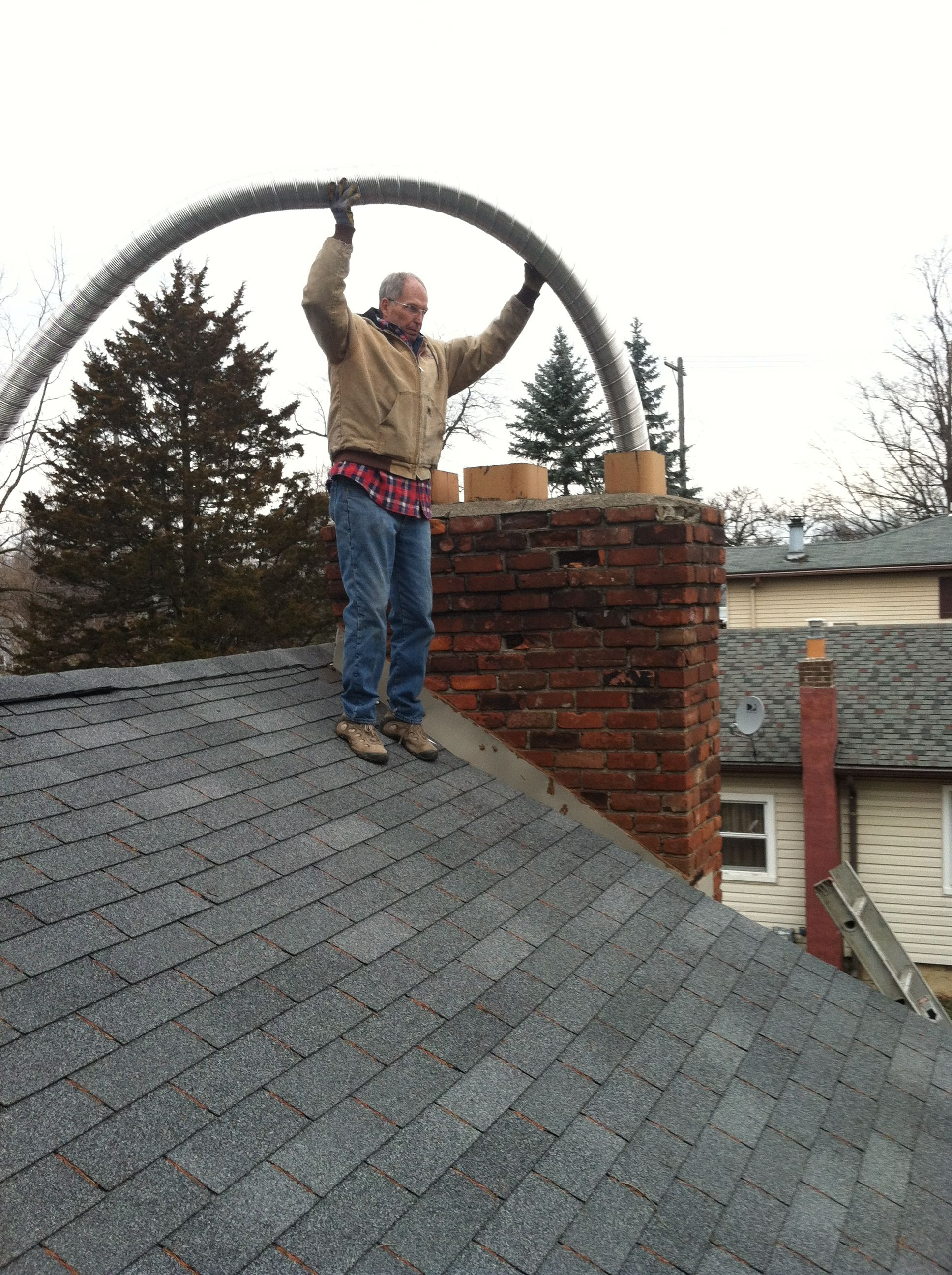 Have A Cracked Deteriorated Or Unsafe Chimney Flue This