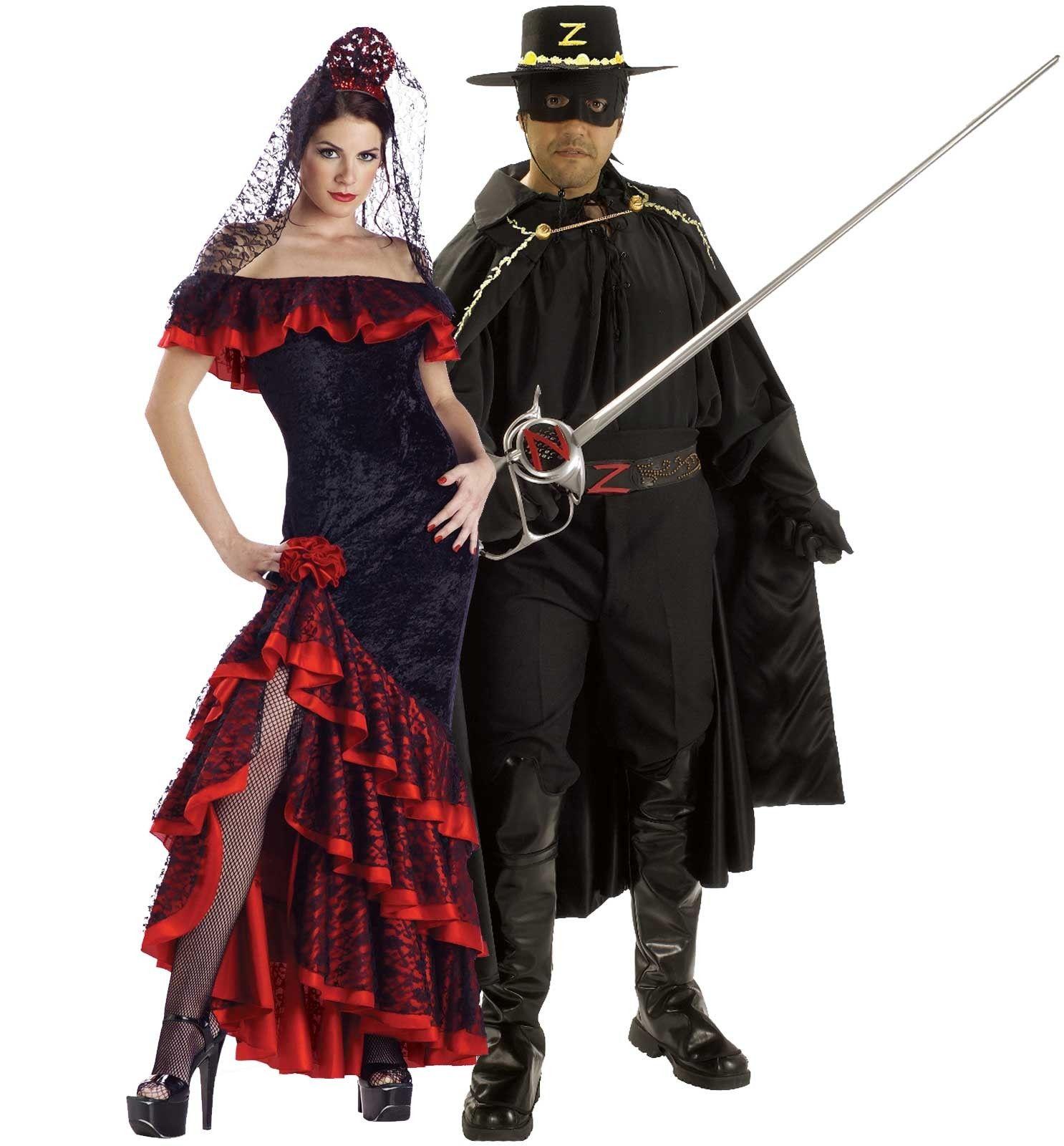 Zorro And Elena Couples Costume  Couples Costumes -1651