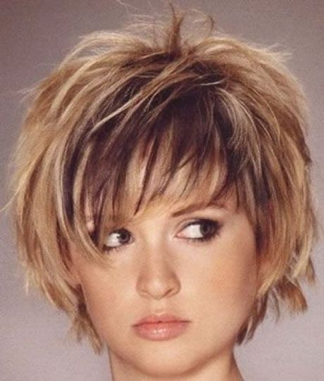 Short Haircuts For Women Over With Round Faces Short Shag - Hairstyles for round face over 60