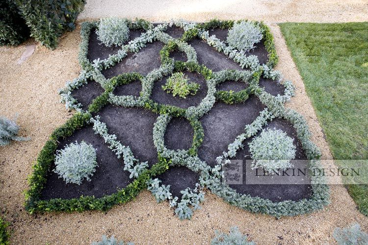 Love this 15th century inspired knot garden consisting of for English knot garden designs