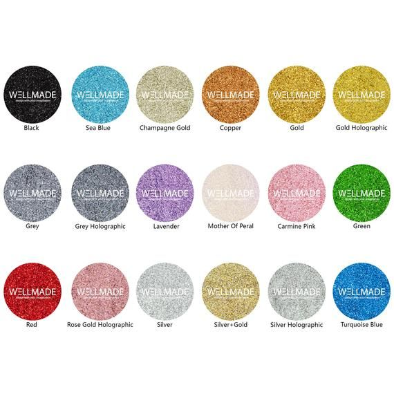 Wellmade Glitter Grout Additives For Wall Floor Tile Mosaic 5.3oz / 150g (16+ Colors) Bathroom Bedroom Kitchen Sparkle