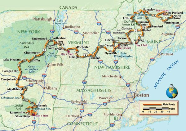 Northeast Motorcycle Rides Ma Ny Vt