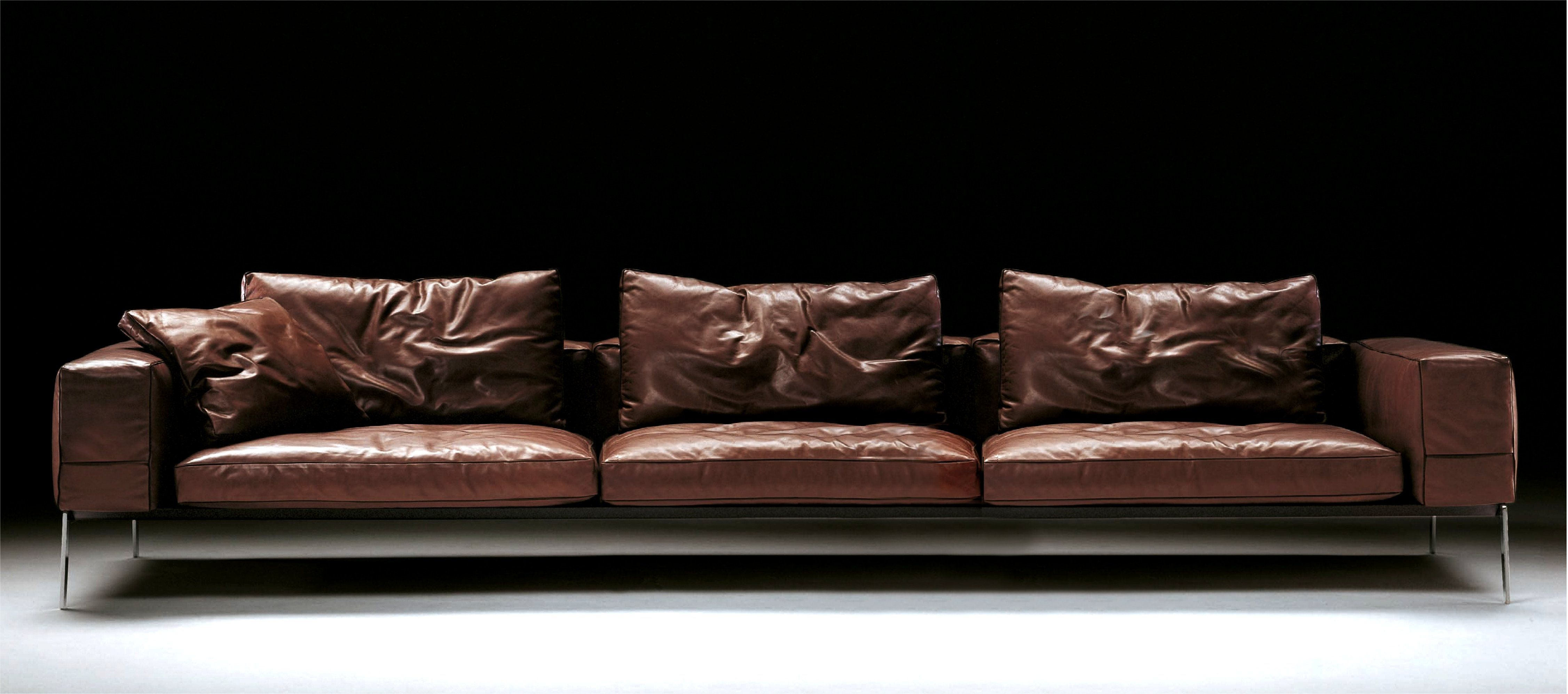 Houston Collection Is Made From Genuine High Quality Italian Leather Made In Italy Flexform Sofa Flexform Italian Leather Sofa