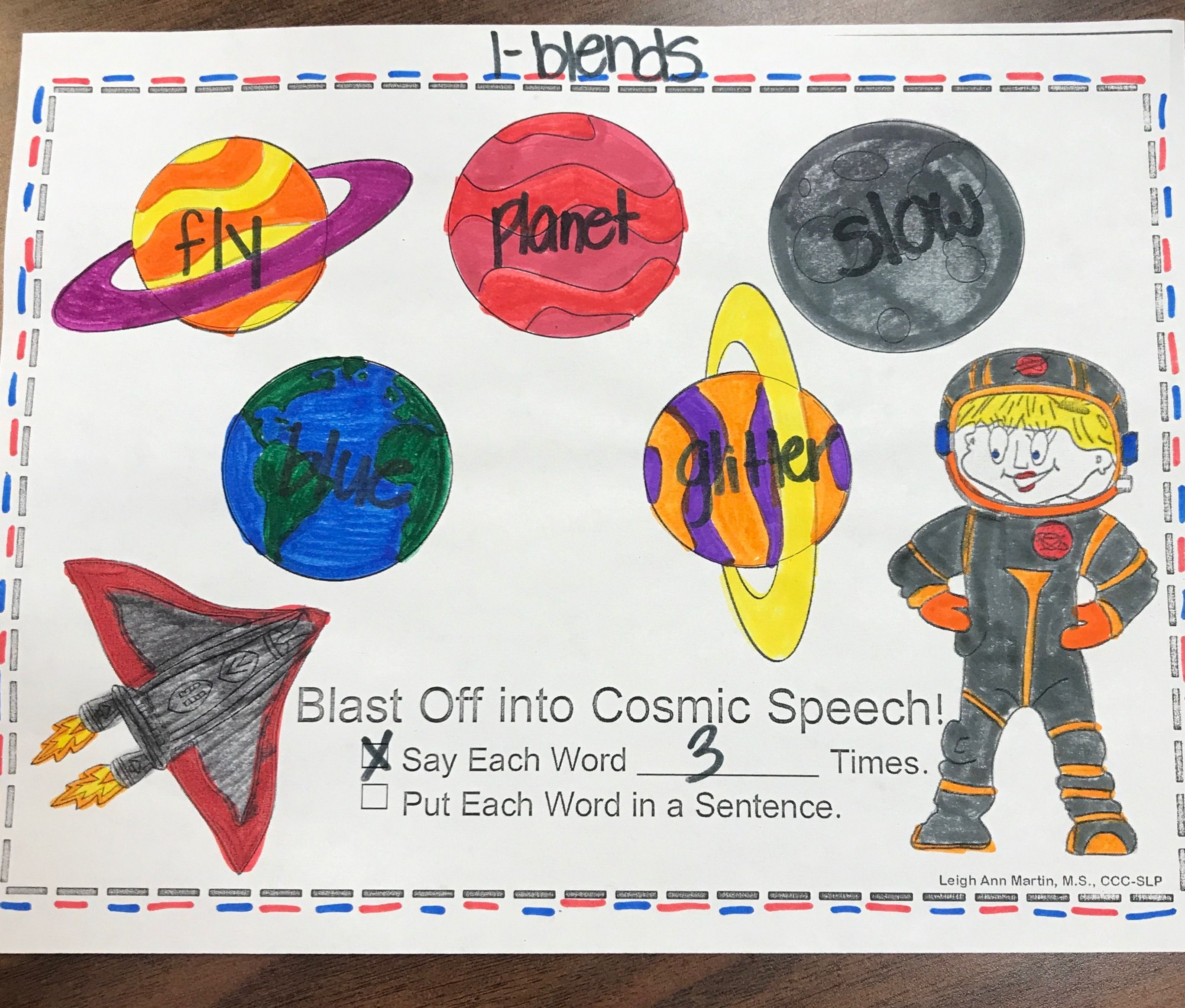 Space Week Artic Planets Space Speech Articulation