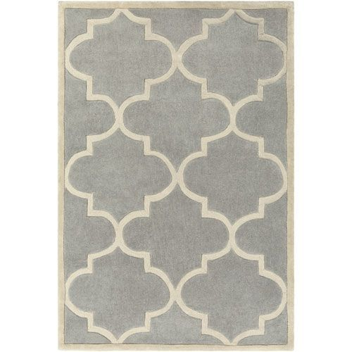 Santorini Harmony Gray and Ivory Rectangular: 4 Ft. x 6 Ft. Rug - (In No Image Available)