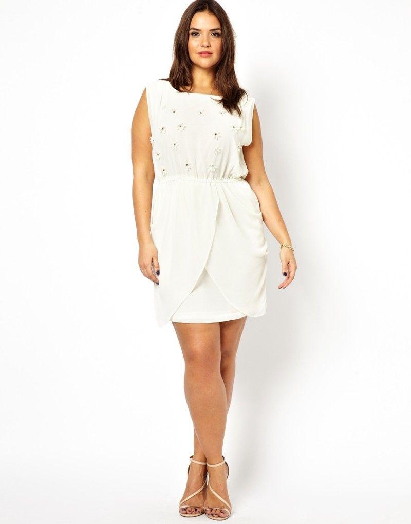 White plus size party dresses cocktail dresses