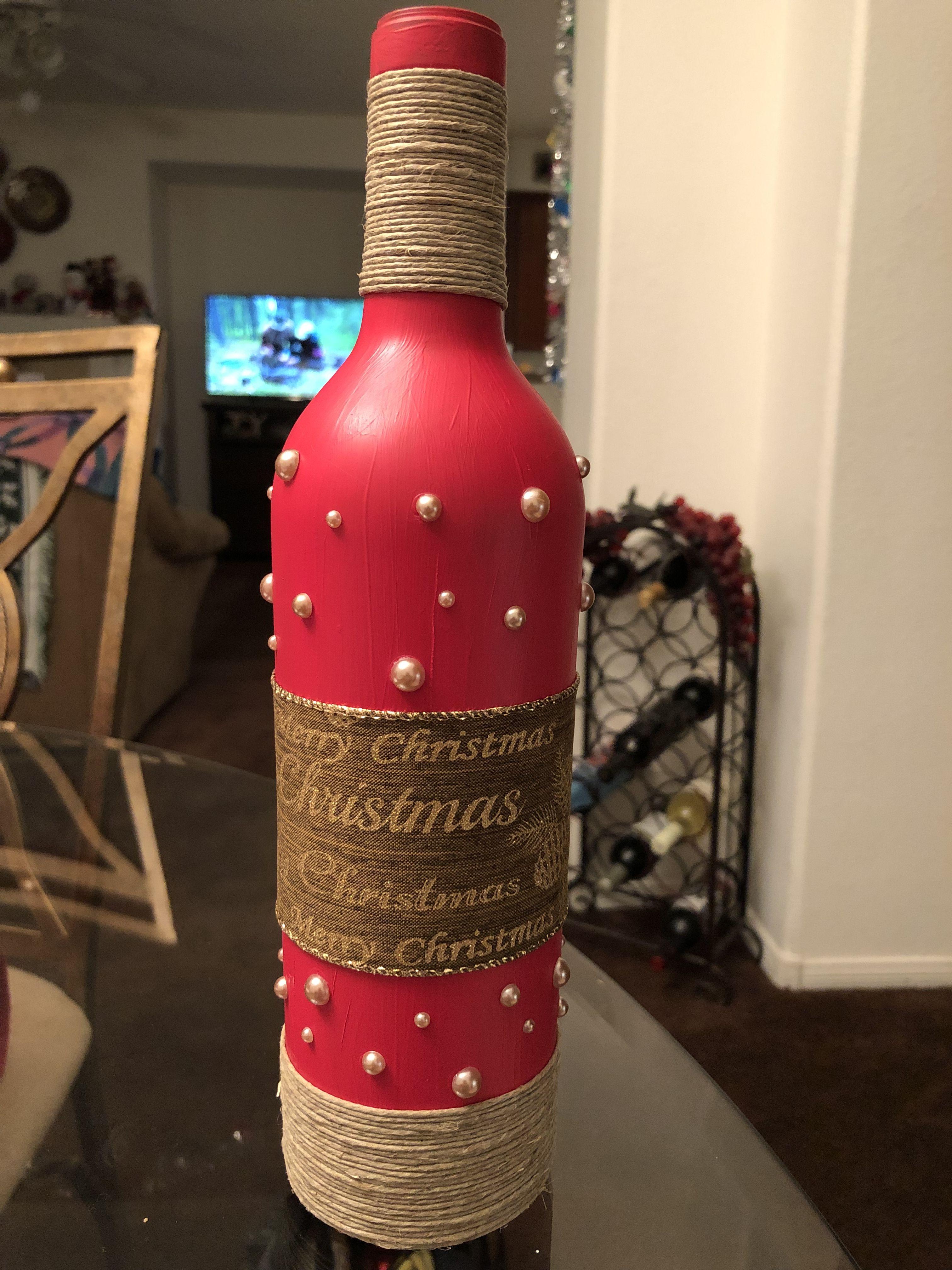 Merry Christmas Wine Bottle Crafts Bottles Decoration Bottle Crafts