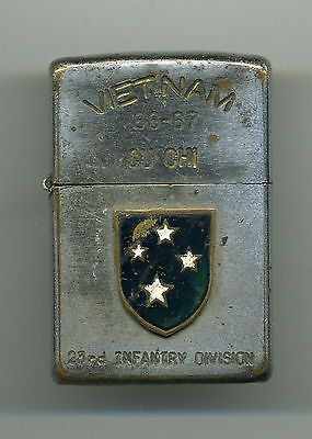 World Map Zippo Lighter. Zippo Lighter CU CHI Vietnam 1966 23rd Infantry  Division Army The