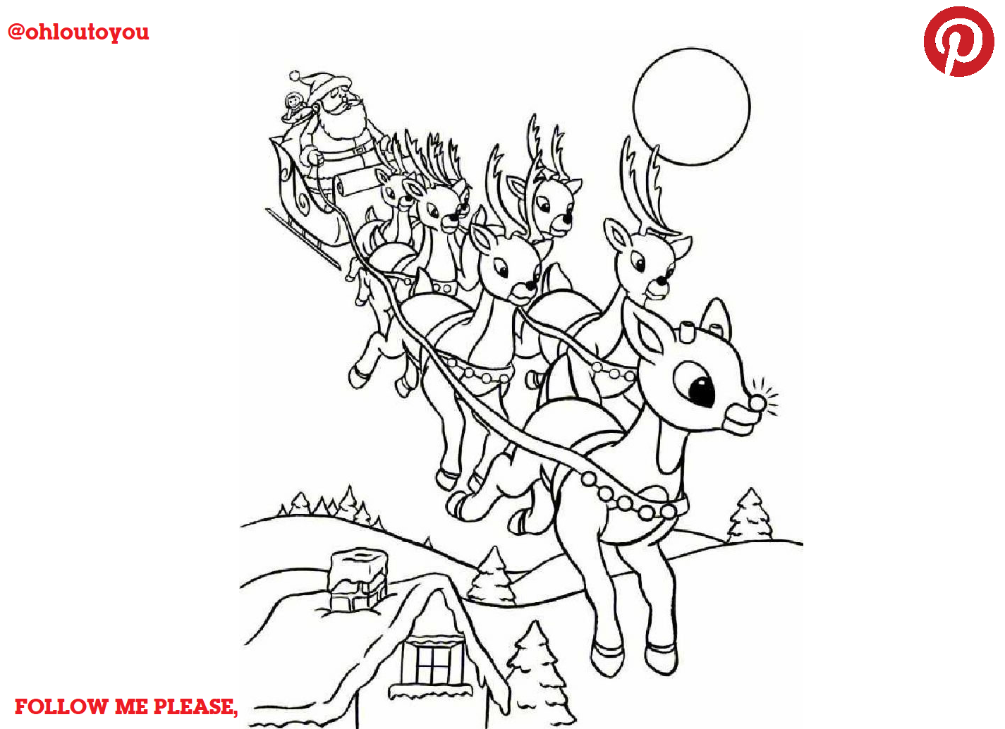 Rudolph The Red Nosed Reindeer Lot 01 Santa Coloring Pages Rudolph Coloring Pages Thanksgiving Coloring Pages