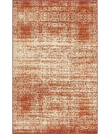 Bridgeport Home Jasia Jas08 Terracotta 5' x 8' Area Rug - Terracotta