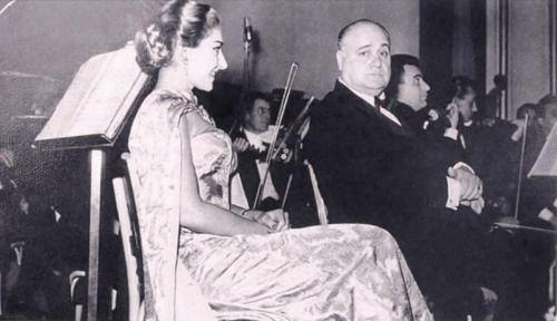 With Beniamino Gigli in San Remo, 1954.   Maria Callas: La Divina ...