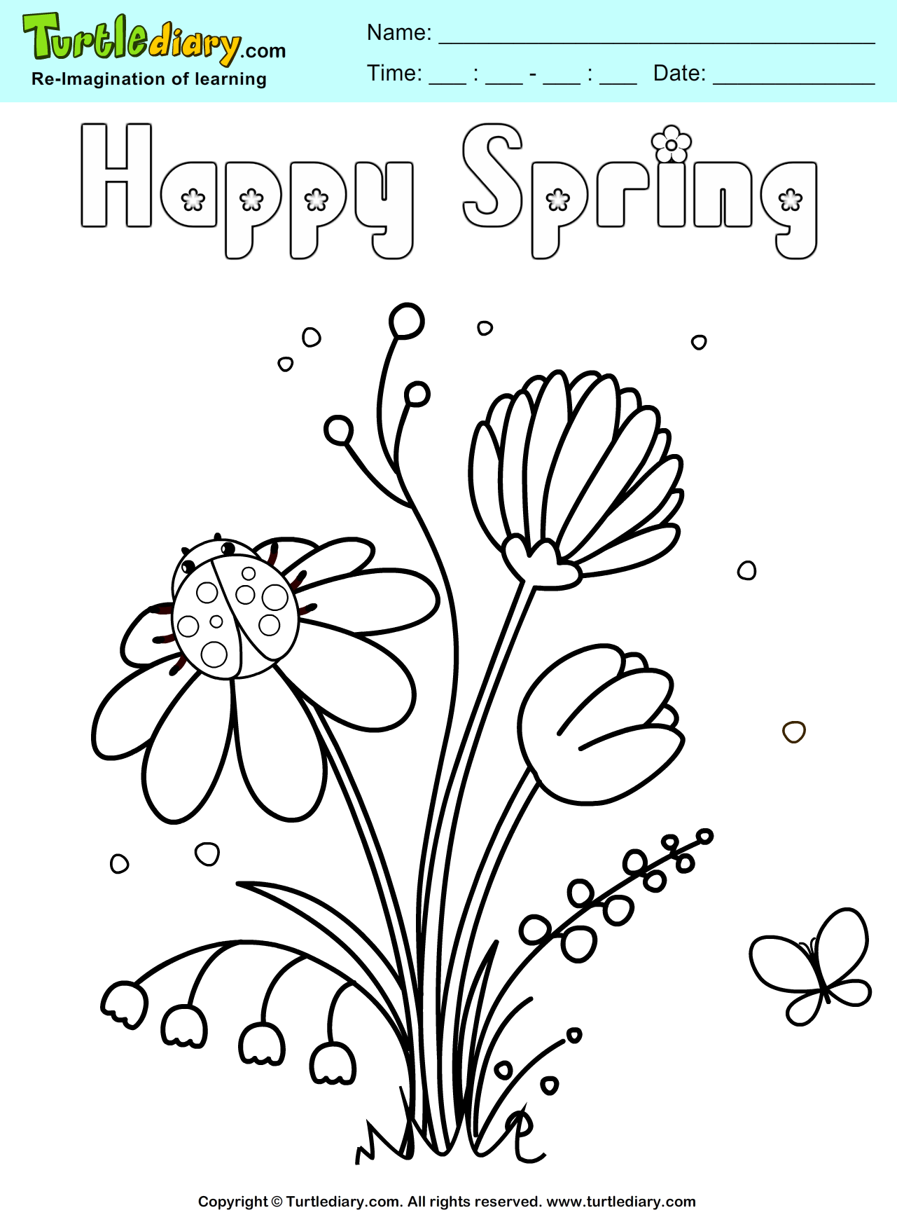 Happy Spring Coloring Pages Photos