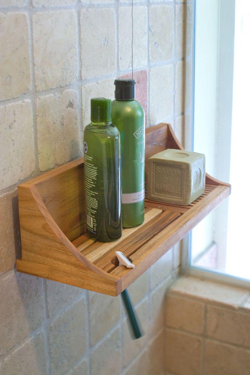 Teak Shower Shelf Buy from Gardener's Supply NO LONGER