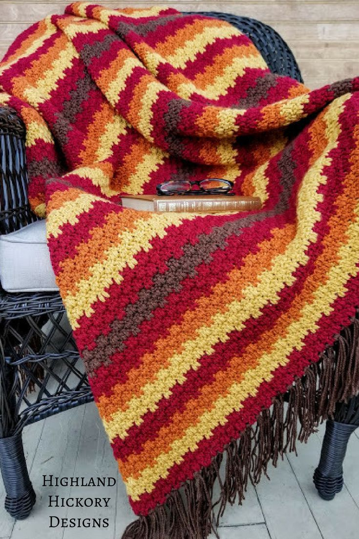 Fall Foliage Afghan - Highland Hickory Designs - Free Crochet ...