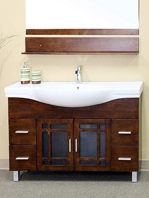 48 Palmas Single Bath Vanity Bellaterra Home Modern Baths Single Bathroom Vanity