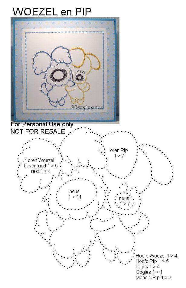 Bergkaarten: Borduurontwerpen   Embroidery on Paper - Cartoon ...