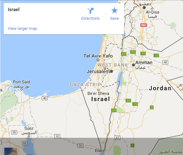 Explore Israel google map to find the top #travelling destination