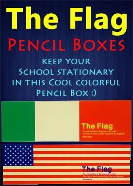 American Flag Pencil Box