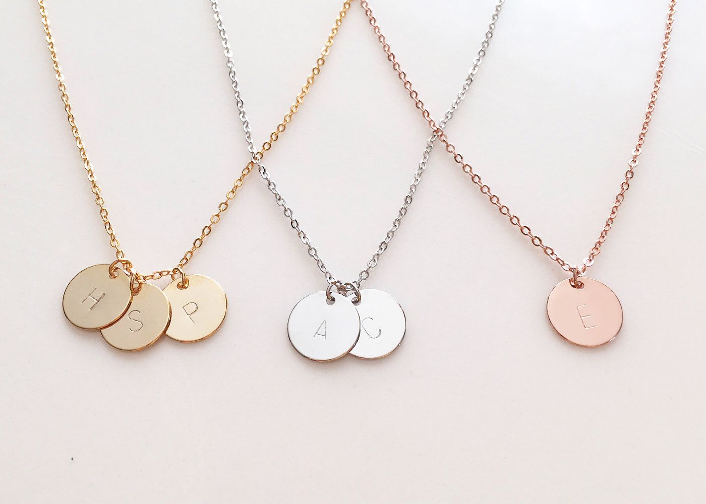 Delicate initial necklace gold letter necklace silver disc delicate initial necklace gold letter necklace silver disc necklace rose gold necklace mozeypictures Choice Image