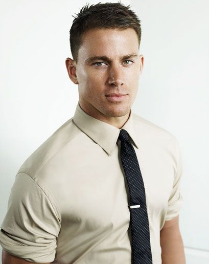 HAIR CUT TIPS:  •Contour the cut.    See Channing Tatum (left). Go shorter on the sides and longer on top.    •Do the math.    Electric clippers are fitted with guards dictating how close they cut. A No. 1 is 1/8 of an inch, a No. 4 is 4/8 of an inch, etc. Go with, say, a No. 3 on top, a No. 1 around the ears, and a No. 2 in between.