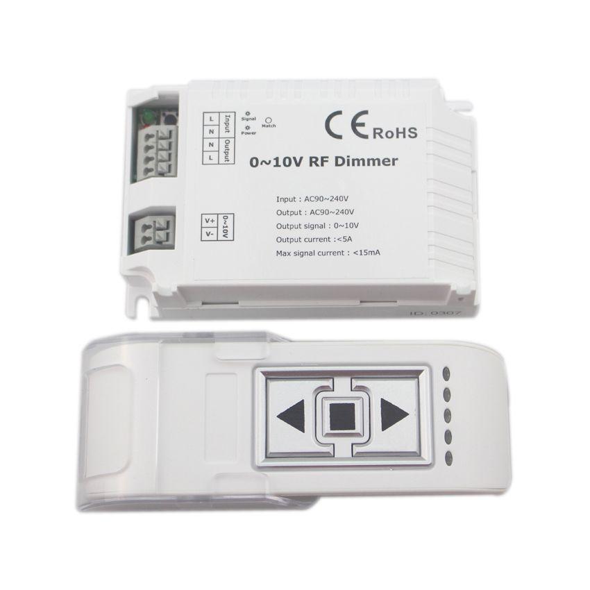 High Voltage 110 220vac 0 10v Rf Led Dimmer On Off 3 Key Rf Remote Control Output 0 10v Signal For Led Panel Light