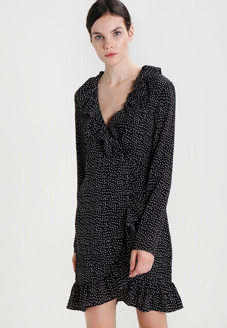 200a66469a378f Vila VIRIVERA DRESS - Korte jurk - black white - Zalando.nl ...