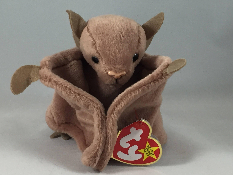 Batty the Bat Plush TY Beanie Baby Halloween Decor Stuffed Vintage ... e58cf53b0edd
