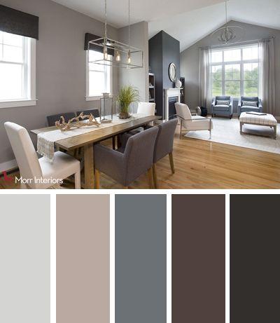 Morr Interiors Dorset Park Interior Design Palette #interiordesign #design #livingroom #kitchen #blue #grey #livingroomcolorschemeideas