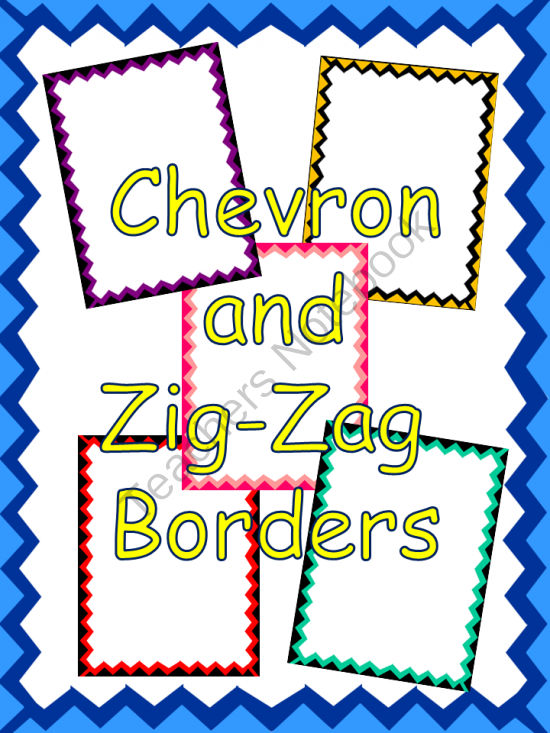 Chevron and Zig Zag Borders from Teach Learn Love on
