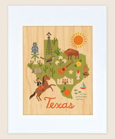 Look what I found on #zulily! Texas Matte Maple Veneer Print #zulilyfinds