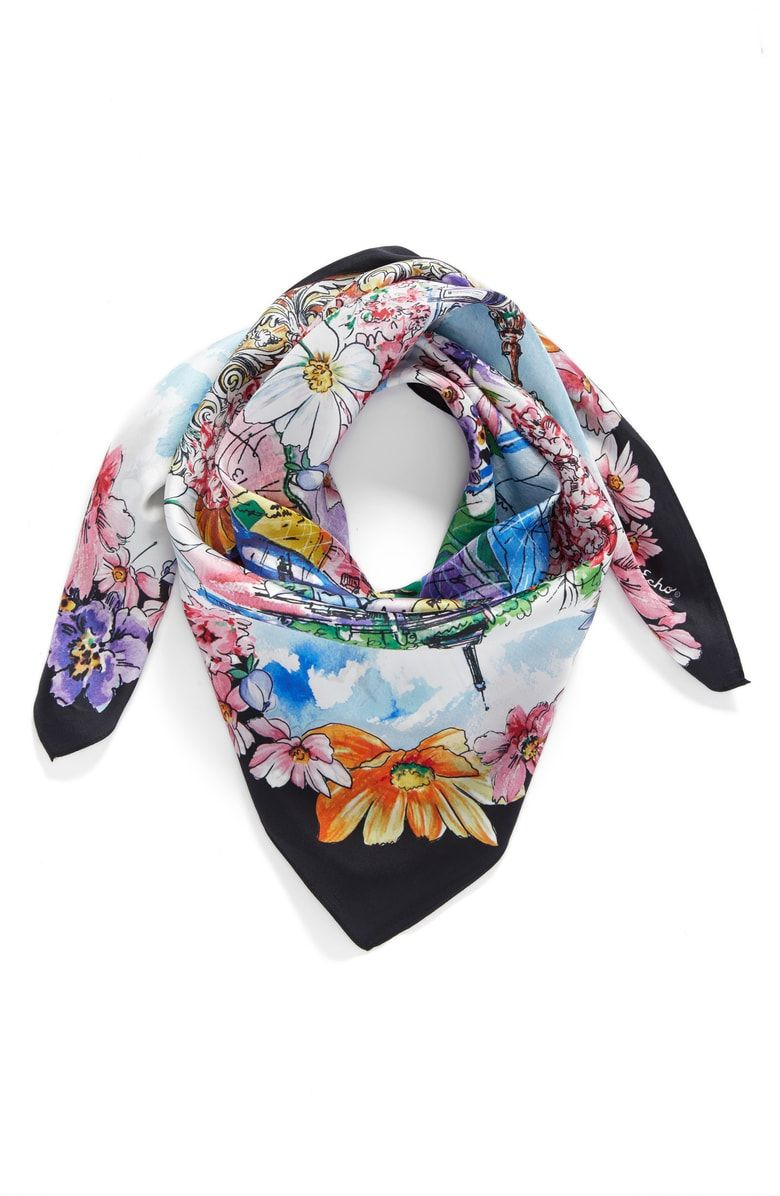 69323886c Free shipping and returns on Echo Paris in the Spring Silk Square Scarf at  Nordstrom.com. A beautiful, painterly floral print adds statement-making  romance ...