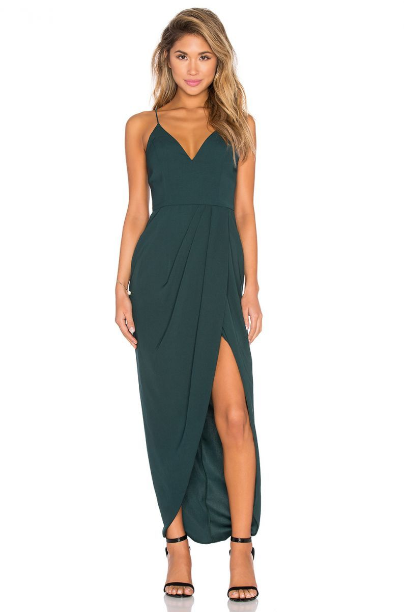 13 Guest Of Dresses To Get You Through Wedding Season The Everygirl Guest Attire Drape Maxi Dress Guest Dresses