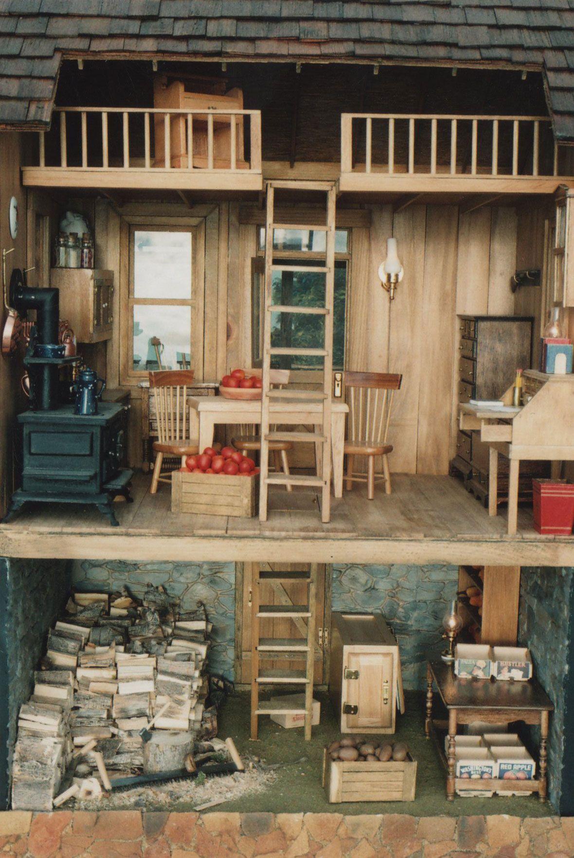 i like the idea of adding a basement under the dollhouse..