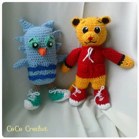 Crocheted O the Owl from Daniel Tiger stuffed by CoCoCrochetByLee ...