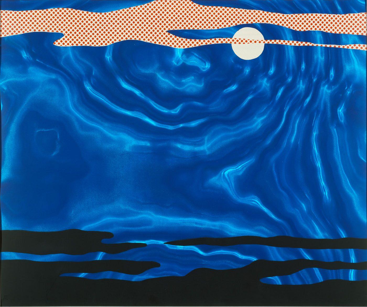 Moonscape, from the portfolio 11 Pop Artists, Volume I by Roy Lichtenstein / American Art